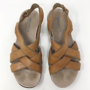 MERRELL Bassoon Low Wedge Heel Sandal